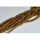 Hematitas 2,5 mm, aukso sp., 1 juosta ( apie 175 vnt.)