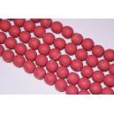 Polimeriniai karoliukai , raudona -plytinė sp., 11-12 mm., 1 juosta ( apie 33 vnt.)