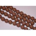 Polimeriniai karoliukai , ruda sp., 11-12 mm., 1 juosta ( apie 33 vnt.)