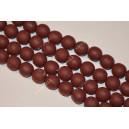 Polimeriniai karoliukai , ruda - bordo sp., 11-12 mm., 1 juosta ( apie 33 vnt.)