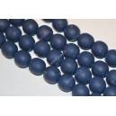 Polimeriniai karoliukai , mėlyna sp., 11-12 mm., 1 juosta ( apie 33 vnt.)