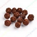 Medinis karoliukas , ruda sp., apie 18-20 mm., 1 vnt.
