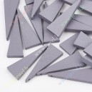 Mediniai karoliukai-pakabukai , pilka spalva 40x15 mm., 6 vnt.