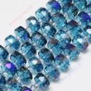 Kristalų juosta 8x5 mm., mėlyna sp., 1 vnt.