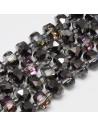 Kristalų juosta 8x5 mm., juoda pusiau dengta sp., 1 juota ( apie 80 vnt.)