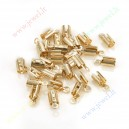 Juostelų užbaigimo detalė , šv, aukso sp., vidus apie 3 mm., 20 vnt.