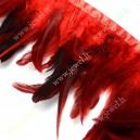 Plunksnų dekoratyvinė juosta , raudona sp. 120-180 mm., 1 m.