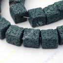 Lava , dažyta , tamsiai žalia sp., 12x12x12 mm., 1 vnt.