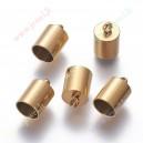 Nerūdyjančio plieno užbaigimo detalė , aukso sp.,11x7 mm, vidaus 6 mm., 1 vnt.