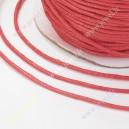 Medvilninė virvutė , raudona sp.,1,5 mm. 10 m.