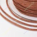 Medvilninė , vaškuota virvutė , ruda sp.,1,5 mm. 10 m.