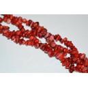 Raudono koralo skalda 5-8 mm., 1 juosta ( apie 80 cm.)