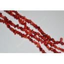 Raudono koralo skalda 3-5 mm., 1 juosta ( apie 80 cm.)