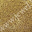 Preciosa, čekiškas biseris apie 50 gr. ( 10/0 ) metalizuota aukso sp.