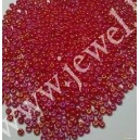 Preciosa, čekiškas biseris apie 50 gr. ( 10/0 ) raudona su AB danga sp.
