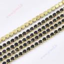 Grandinėlė su akutėmis ,aukso sp. su tamsiai mėlyna sp. 2,2 mm., 1 m.
