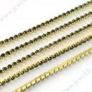 Grandinėlė su akutėmis, aukso sp. su juodom akutėm , 2,2 mm. ,  1 m.