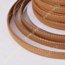Dirtinės odos juostelė, ruda sp. 11x3 mm., 1 m.