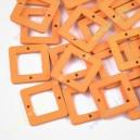 Mediniai karoliukai 23x23x3 mm., oranžinė sp., 10 vnt.