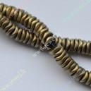 Hematitas , žalsva aukso matinė sp., 6x2 mm., 1 juosta ( apie 225 vnt.)