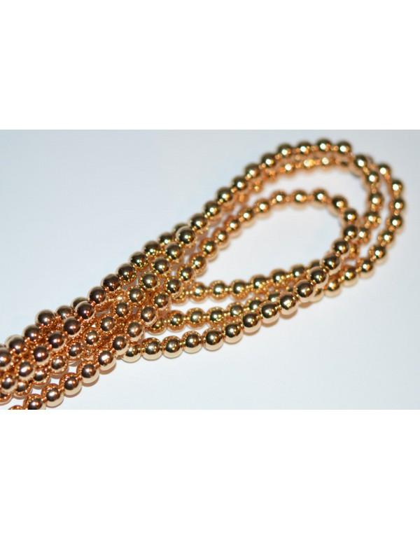 Hematitas , šv.aukso sp.  8 mm, 1 juosta ( apie 56 vnt.)