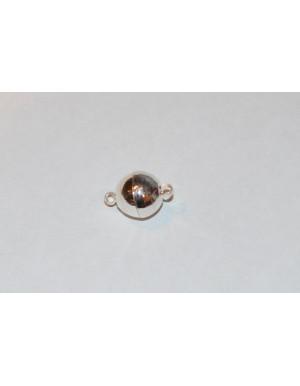 Sidabro spalvos magnetinis užsegimas 10x15 mm , 1 vnt.