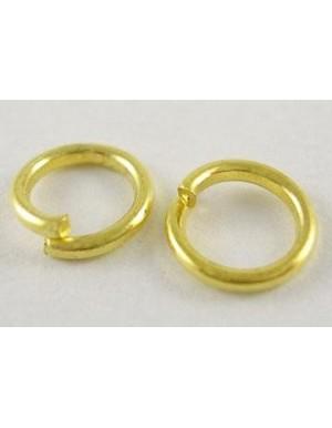 Žiedeliai viengubi , aukso sp., 10 x 1 mm. apie 40 vnt.