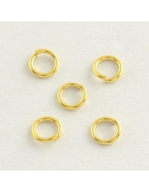 Nerūdyjančio plieno , aukso spalvos , viengubi žiedeliai 8x1 mm., 8 vnt.