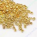 Paslėpėjai apie 3 mm.aukso spalvos 50 vnt.