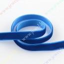 Juotelė barchatinė, mėlyna spalva 10 mm. 1 m.