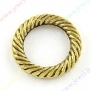 Žiedas paskirstytojas , sendinto aukso sp. 13x2 mm, 16 vnt.