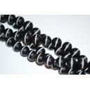 Onikso karoliukai 12 mm.matinė, 1 juosta