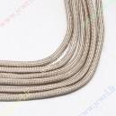 Parašiutinė virvė su paracordu, kreminė, 4 mm.,5 m.