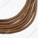 Parašiutinė virvė su paracordu , ruda, 4 mm.,5 m.