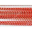 Grandinėlė , raudona sp. 1x1,5 mm. 1 m.