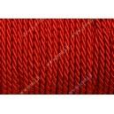 Dekoratyvinė virvelė 3,2 mm.raudona , 1 m.