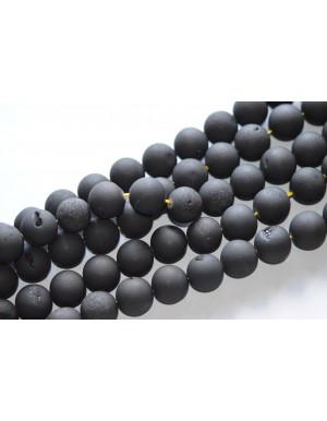 "Agatas ""Druzy"" 16 mm , juoda spalva, 1 juosta"
