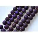 """Agatas """"Druzy""""  14 mm.violetinė spalva ,1 juosta"""