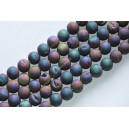 """Agatas """"Druzy""""  12 mm. violetinė melsva spalva ,1 juosta"""