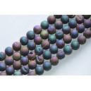 """Agatas """"Druzy""""  10 mm. melsvai violetinė spalva ,1 juosta"""
