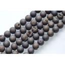 "Agatas ""Druzy""  18 mm. pilkai violetinė spalva ,1 juosta"