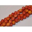 Malachitas sintetinis , raudona marga sp. 8 mm, 1 juosta