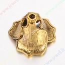 Žalvarinė, sendinto aukso sp. kepurėlė 22x16 mm, vidus 12 mm., 1 vnt
