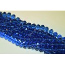 Rondelė forma 10x7 mm.šviesiai mėlyna , 1 juosta