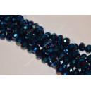 Rondelė forma 10x7 mm. mėlyna sp. 1 juosta
