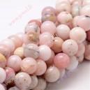 Rožinis natūralus opalas 10 mm, 1  juosta