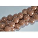 Keramikos karoliukai 12 mm.,šviesi ruda., 1 juosta