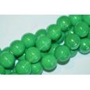 Keramikos karoliukai 10 mm., žalia spalva , 1 juosta