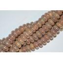 Keramikos karoliukas , rondelė , ruda su AB sp., 5x8 mm. 1 vnt.