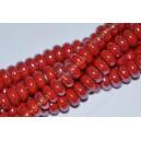 Keramikos karoliukas , rondelė , raudona sp., 5x10 mm. 1 vnt.